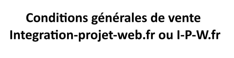 Conditions générales de vente de I-P-W.fr